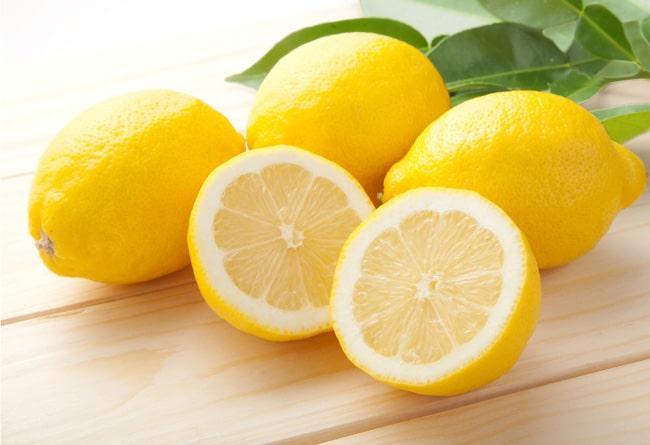 レモンのクエン酸が有効的