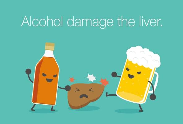 酒が肝臓をいじめている-min